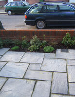 New wall and paving in Harrow